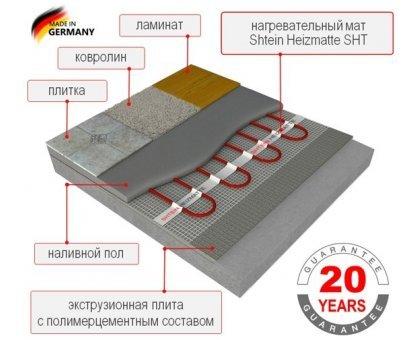 Купить Теплый пол нагревательныйматShtein Heizmatte SHT-200-1,0м² в Краснодаре