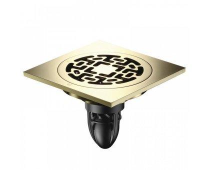 Купить Трап сантехнический MAGdrain CC 06 Q50-Z (100*100, магнитный клапан, Латунь, Цирконий Золото) в Краснодаре